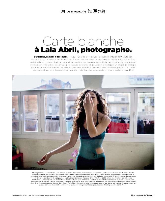 Raquel Santiago en Le Magazine Du Monde