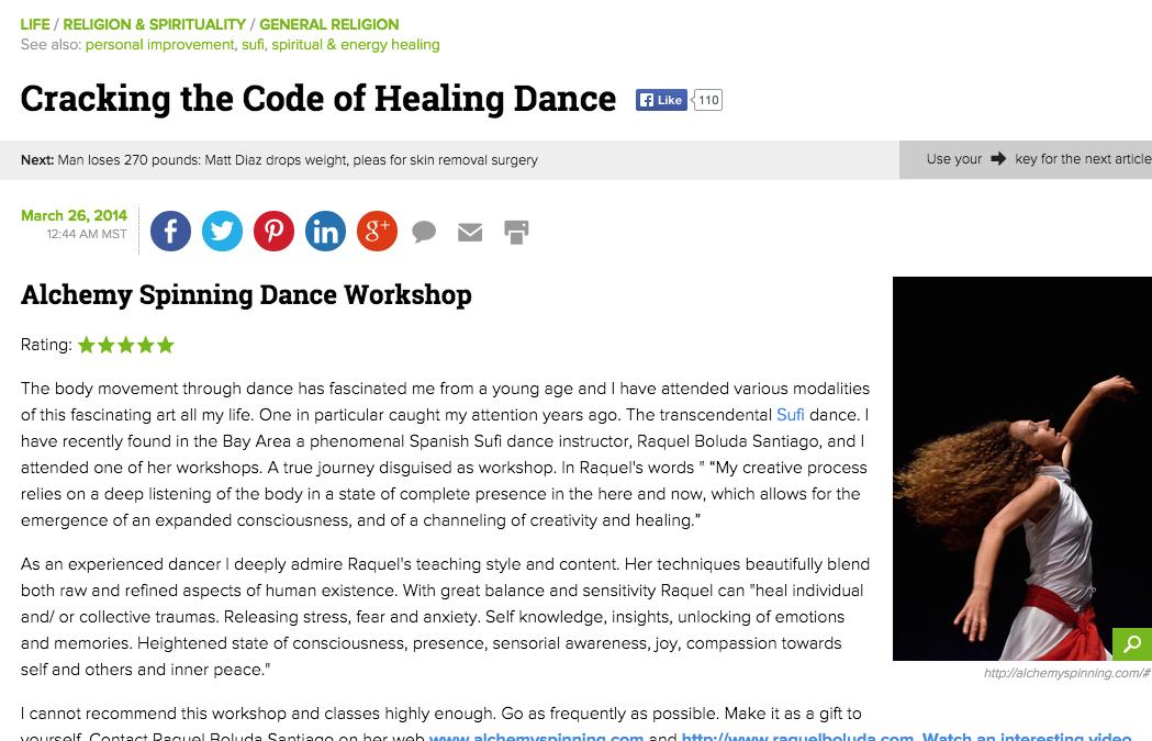 Alchemy Spinning en el Examiner.com