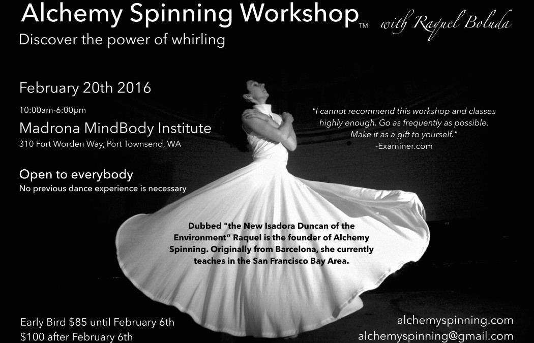 Alchemy Spinning Workshop at Madrona MindBody Institute