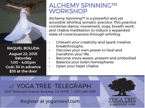 Alchemy Spinning Workshop at Yoga Tree Telegraph in Berkeley